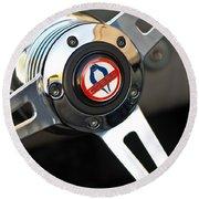 1965 Shelby Cobra 427 Steering Wheel Emblem Round Beach Towel