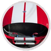 1965 Shelby Cobra Front Grille - Emblem Round Beach Towel