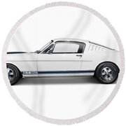1965 Shelby Gt350 Mustang Retro Sports Car Round Beach Towel