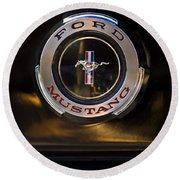 1965 Shelby Prototype Ford Mustang Emblem 2 Round Beach Towel