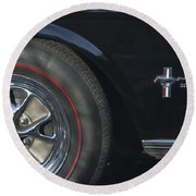 1965 Shelby Prototype Ford Mustang Wheel 2 Round Beach Towel