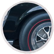 1965 Shelby Prototype Ford Mustang Wheel 3 Round Beach Towel