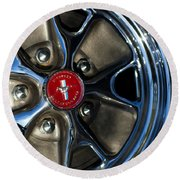 1965 Shelby Prototype Ford Mustang Wheel Round Beach Towel