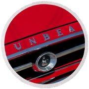 1965 Sunbeam Tiger Grille Emblem Round Beach Towel