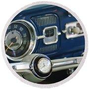 1965 Volkswagen Vw Beetle Steering Wheel Round Beach Towel