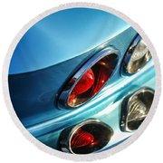 1966 Chevrolet Corvette Taillight -120c Round Beach Towel
