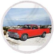 1966 Chevrolet El Camino 327 Round Beach Towel