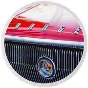 1966 Dodge Charger Grille Emblem Round Beach Towel