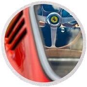 1966 Ferrari 275 Gtb Steering Wheel -0408c Round Beach Towel
