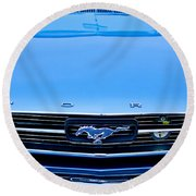1966 Ford Mustang Front End Round Beach Towel