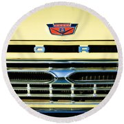 1966 Ford Pickup Truck Grille Emblem Round Beach Towel