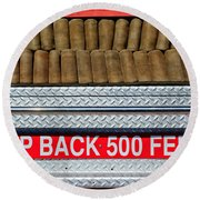 1966 Ford Young Fire Engine Round Beach Towel