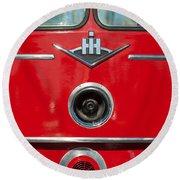 1966 International Harvester Pumping Ladder Fire Truck - 549 Ford Gas Motor Round Beach Towel
