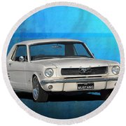 1966 Mustang Round Beach Towel