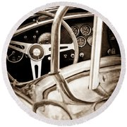 1966 Shelby 427 Cobra Steering Wheel Emblem Round Beach Towel
