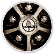 1966 Shelby Cobra Gt350 Wheel Rim Emblem Round Beach Towel