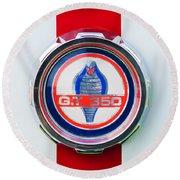 1966 Shelby Gt 350 Emblem Round Beach Towel