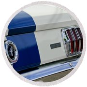 1966 Shelby Gt 350 Taillight Round Beach Towel