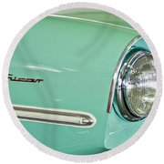 1967 Amphicar Model 770 Head Light Round Beach Towel