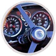 1967 Aston Martin Db6 Volante Steering Wheel 2 Round Beach Towel