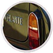 1967 Aston Martin Db6 Volante Tail Light Round Beach Towel
