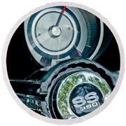 1967 Chevrolet Camaro  Ss Steering Wheel Emblem Emblem Round Beach Towel