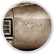 1967 Chevrolet Chevelle Ss Super Sport Taillight Emblem Round Beach Towel