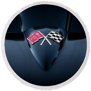 1967 Chevrolet Corvette 427 435 Hp Painted  Round Beach Towel