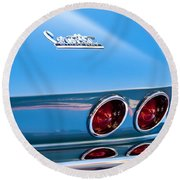 1967 Chevrolet Corvette Taillights Round Beach Towel