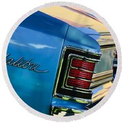 1967 Chevrolet Malibu Taillight Emblem Round Beach Towel