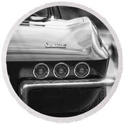1967 Chevy Corvette Stingray Round Beach Towel