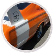 1967 Dodge Charger 02 Round Beach Towel