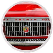 1967 Fiat Abarth 1000 Otr Grille Round Beach Towel by Jill Reger