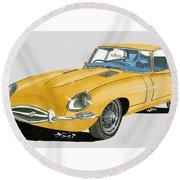 1967 Jaguar X K E Coupe Round Beach Towel