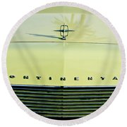 1967 Lincoln Continental Grille Emblem - Hood Ornament Round Beach Towel