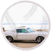 1967 Mustang Round Beach Towel