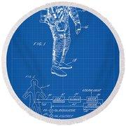 1967 Nasa Astronaut Ventilated Space Suit Patent Art 1 Round Beach Towel