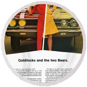 1967 Plymouth Gtx - Goldilocks And The Two Bears. Round Beach Towel