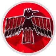 1967 Pontiac Firebird Emblem Round Beach Towel