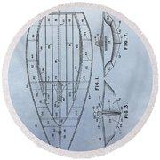 1967 Sailboat Patent Round Beach Towel