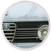 1968 Alfa Romeo Giulia Super Grille Round Beach Towel