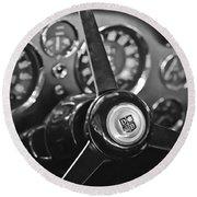 1968 Aston Martin Steering Wheel Emblem Round Beach Towel