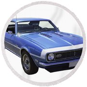 1968 Chevrolet Camaro 327 Muscle Car Round Beach Towel