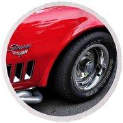 1968 Chevrolet Corvette Stingray Round Beach Towel