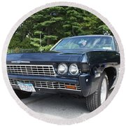 1968 Chevrolet Impala Sedan Round Beach Towel
