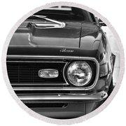 1968 Chevy Camaro Ss 350 Round Beach Towel