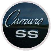 1968 Chevy Camaro Ss Logo Round Beach Towel