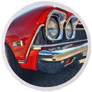 1968 Chevy Chevelle Ss 396 Round Beach Towel