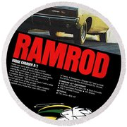 1968 Dodge Charger R/t - Ramrod Round Beach Towel