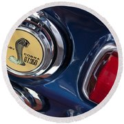 1968 Ford Mustang - Shelby Cobra Gt 350 Taillight And Gas Cap Round Beach Towel